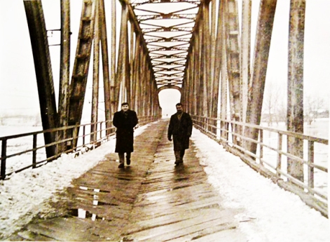 drumski most pod snegom