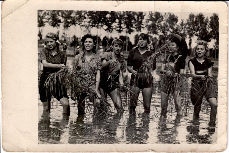 """Силвана Мангано, филм """"Горки пиринач"""". 1949."""