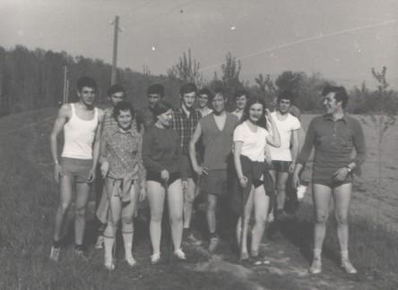Maturantski kros na brani iza kasarne 1971