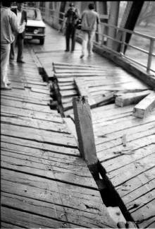 Most prilikom ostecenja autobusa