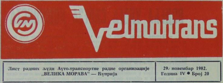 Velmortrans novine 1982