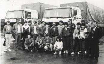 Заједничка фотографија са ученицима