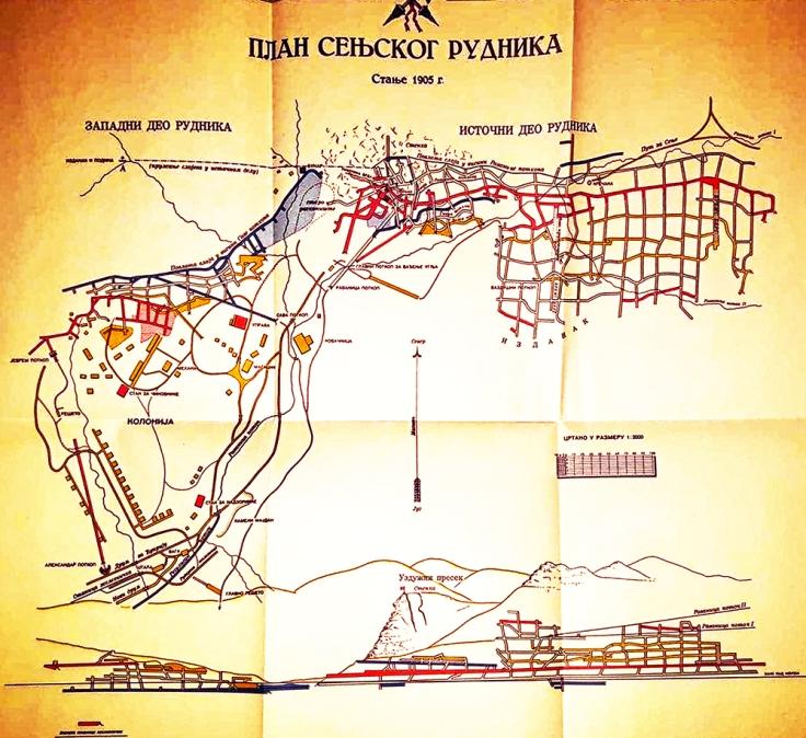 1905 plan Senjskog Rudnika