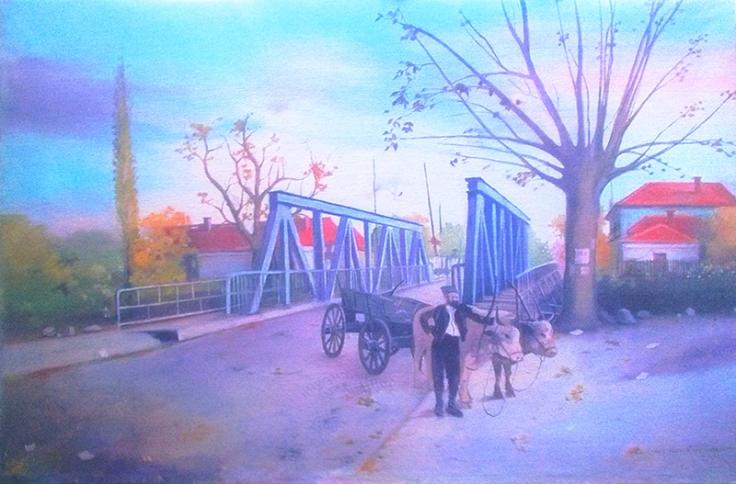 Cuprija Mikicev most ulje na platnu