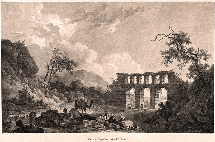 An_aqueduct_near_Ephesus._Engraving_by_J._Mathieu_after_J.R._Wellcome_V0020182
