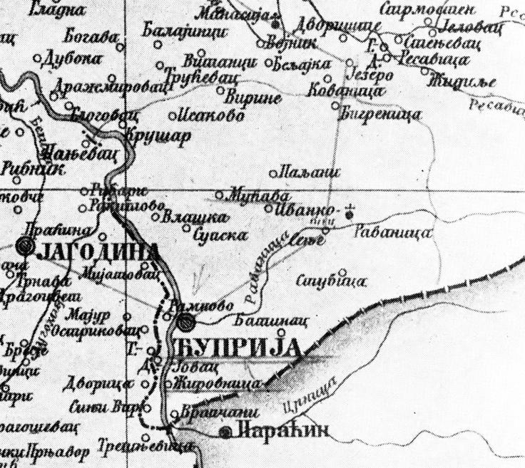 Zirovnica karta 1815
