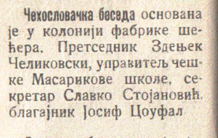 cehoslovacka beseda 1937