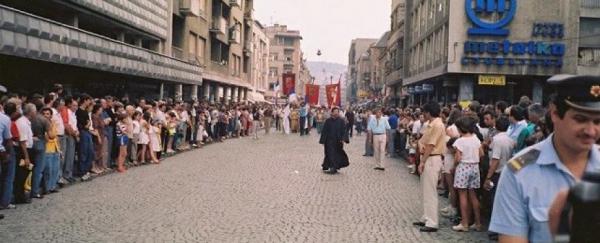 foto slavko bajin docek-mostiju-sv-cara-lazara-u-nisu-jula-1989-godine