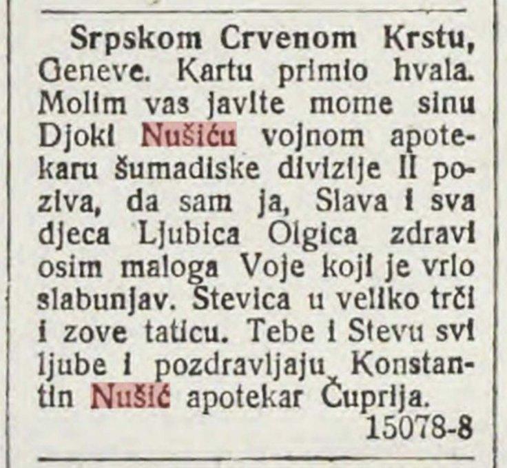 Pismo 08 10 1916 god