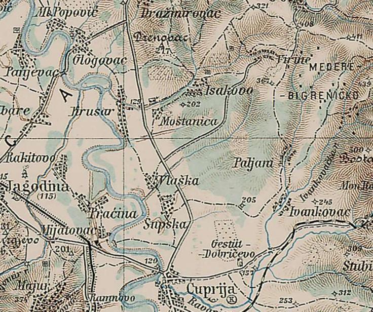 Mostanica djeneralska karta