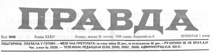 Pravda 23 10 1938