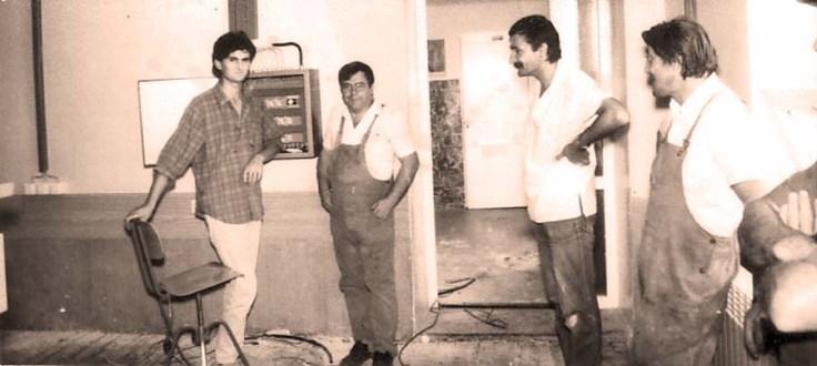 Uvodjenje instalacije za informaticki kabinet 1988
