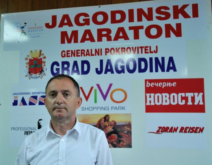 Jagodina, Dejan dasic, predsednik Organizacionog odbora maratona